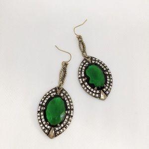 NWOT lulu frost green crystal earrings